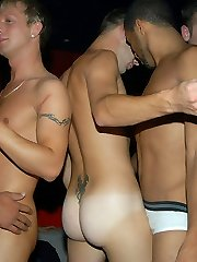 Super hot gay sex orgy at a club watch these amazing gay papis get naked crazy bananas on the...