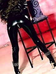 Tight latex pants