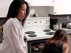 Asian femdom in the kitchen