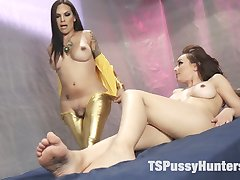 Ts Foxy has been watching Cytherea for years watching her squirt and cum. She finally has...