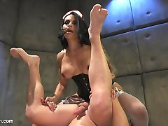 Rick Fantana falls asleep jacking off to TS Foxxys filthy porn. In this hot nightmare dream cum...