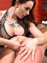 Hot fan girl, Charlotte Cross, begs adult superstar Chanel Preston for submissive lesbian...