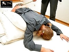Young teenage ass severely thrashed with a carpet beater