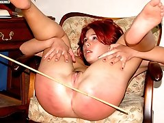 Filthy whore spreads her ass cheeks wide for a blistering spanking