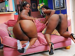 Big phat ass sluts spread each others cheeks and dig into some twat!