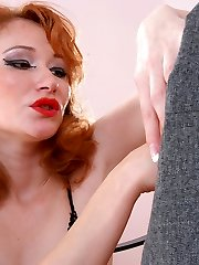 Horny chick tricking guy into breathtaking strap-on fucking in doggystyle