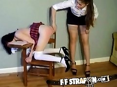 Schoolgirl gets caught misbehaving by lesbian teacher