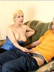 Sex-crazed mature woman