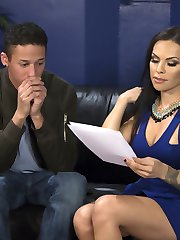 TS Foxxy interviews new possible roommates and comes across a young and eager to please...