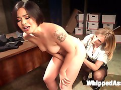 Sadistic lesbian detective Mona Wales, trains hot new detective deputy, Milcah Halili, in the...