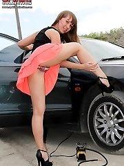 Hidden camera hot up skirt pictures