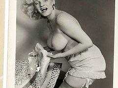 Vintage blonde naked women