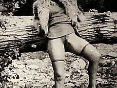 Sexy vintage ladies outdoor