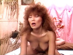 Aja, Jade East, Kascha in vintage porn video