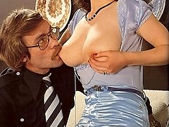 Busty retro lady gets cock