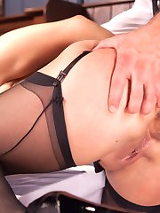Lea Lexis is bound, gagged and fucked hard in her ass in this story of Risk and Reward...When...