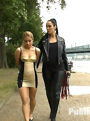 Nikki Thorne is back and this time she gets punished by Fetish Liza. This anal slut in a tight...