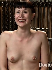 Creamy alabaster skinned Katharine Cane finally makes her debut at Device Bondage. She is tough...