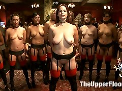 The Pussy Platoon is in full on the Upper Floor for this once a year blow-out slave review orgy....