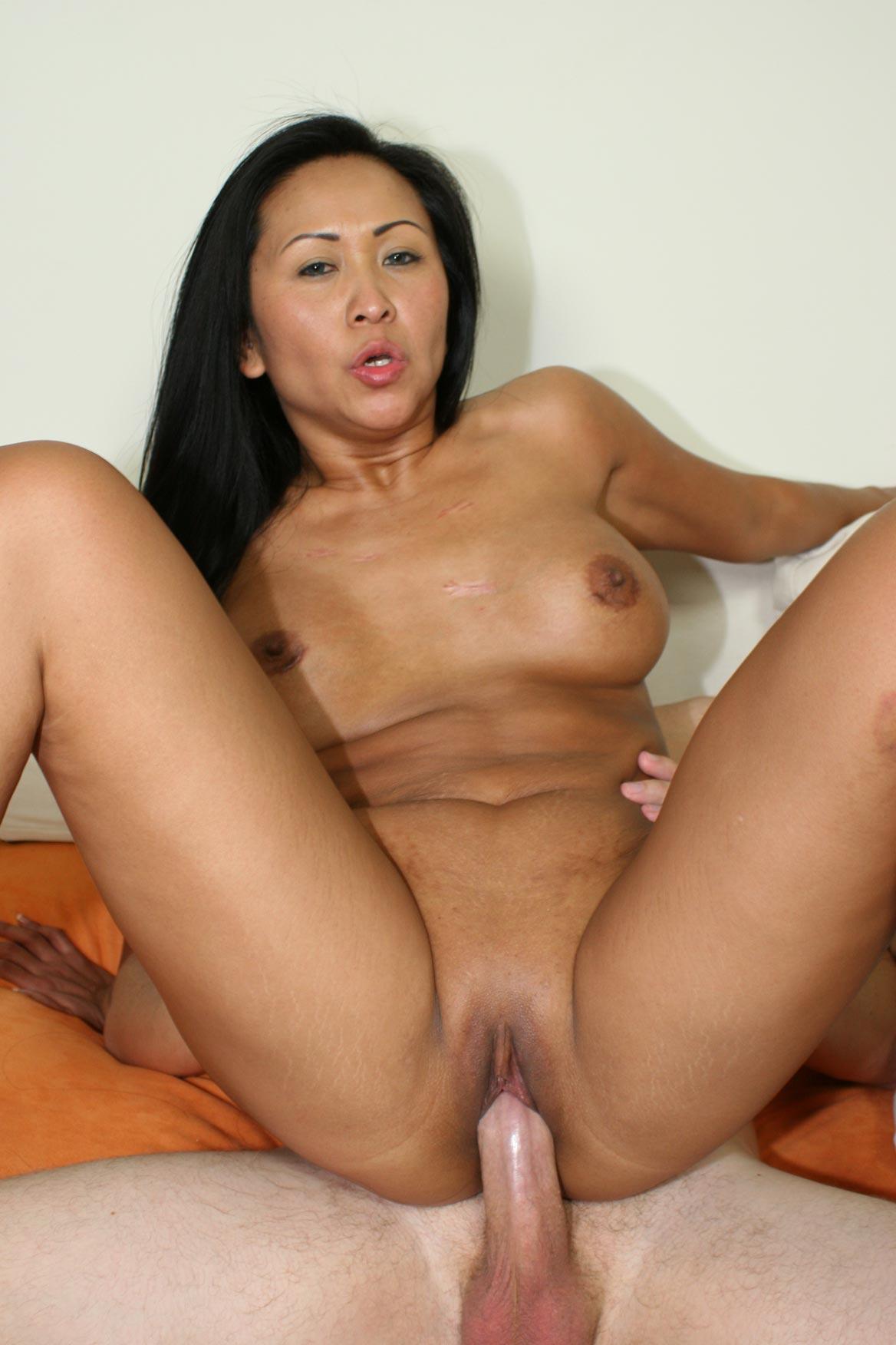 Asian Girl White Cock Creampie