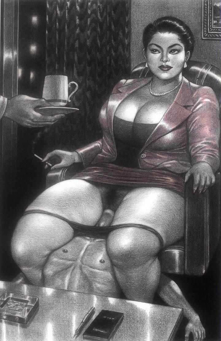 Sexy Fat Girls Cartoon - Fat Femdom Hentai | BDSM Fetish