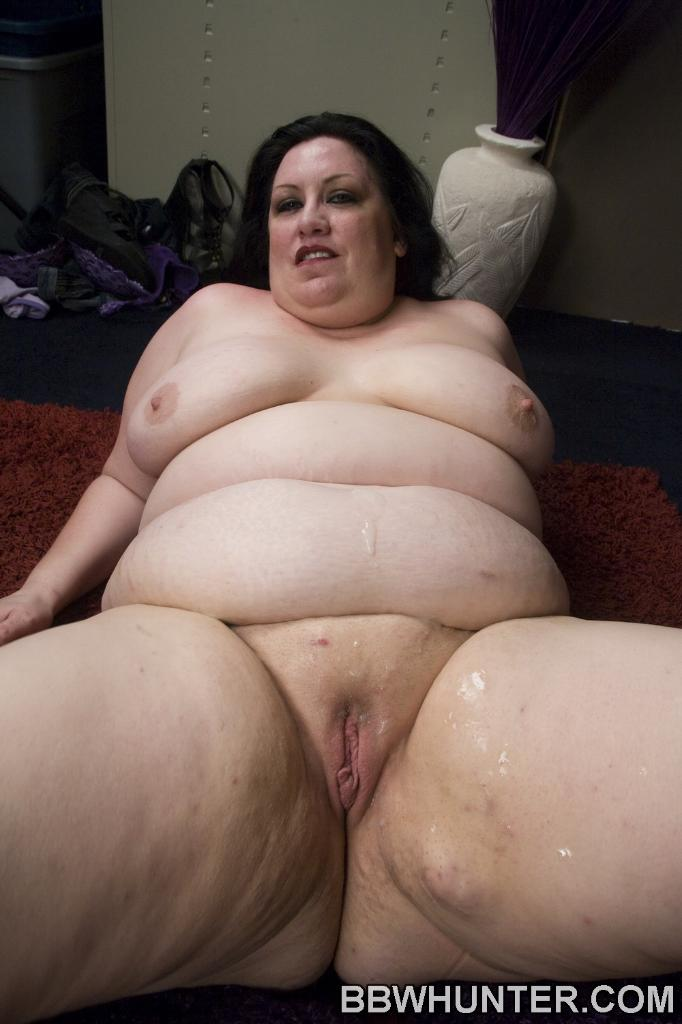 Sexy BBW Matalla is spread eagled on the floor while a hunk ...