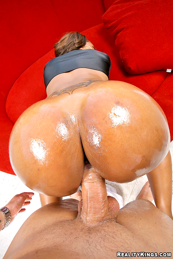 Big Ebony Ass Riding Dildo