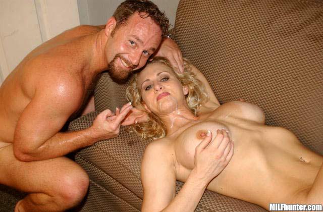Lesbian Milf Seduces Blonde