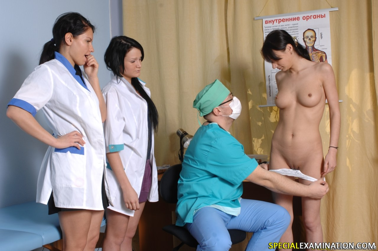 Womans naked medical exam