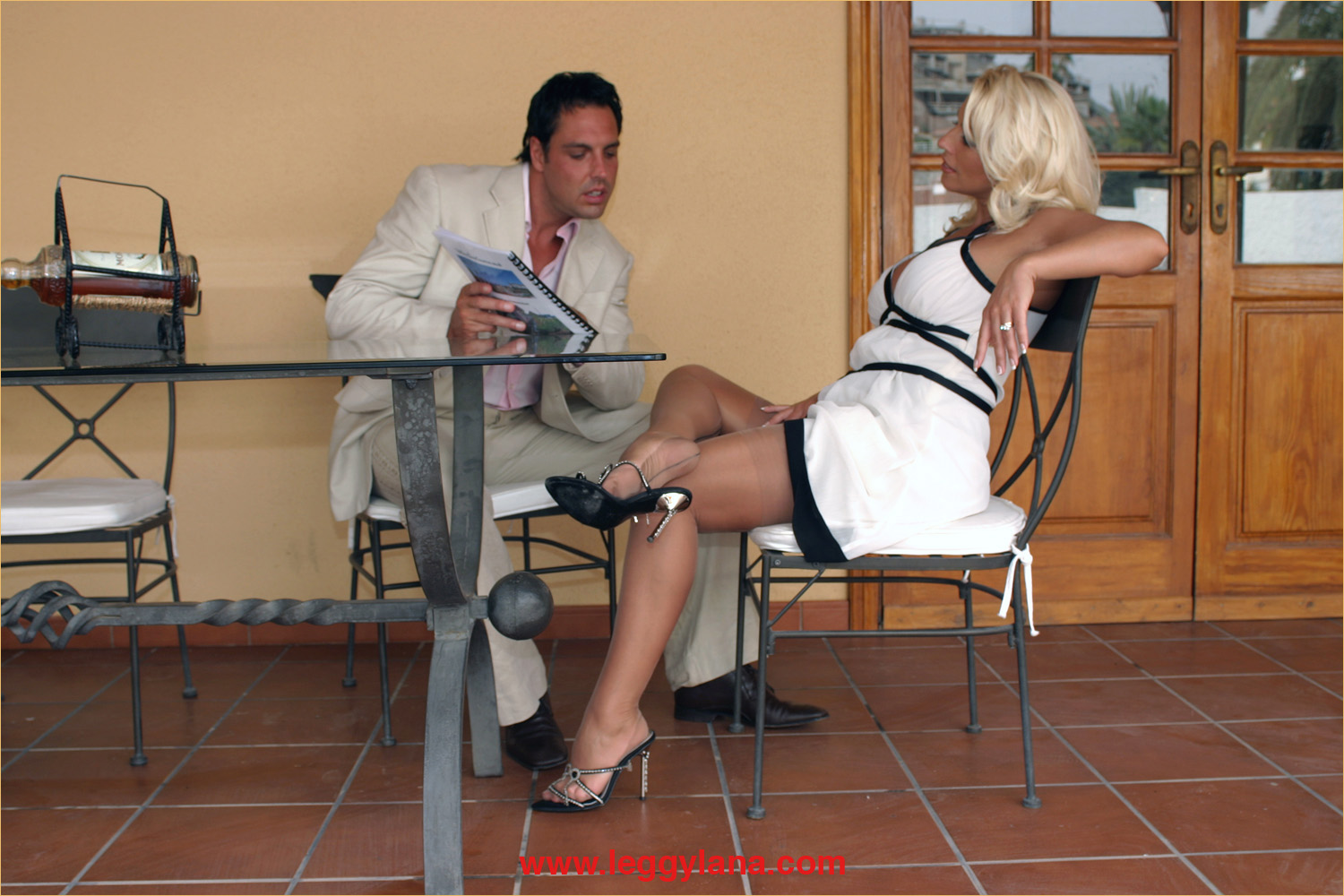 Hot Mom Stuck Under Table