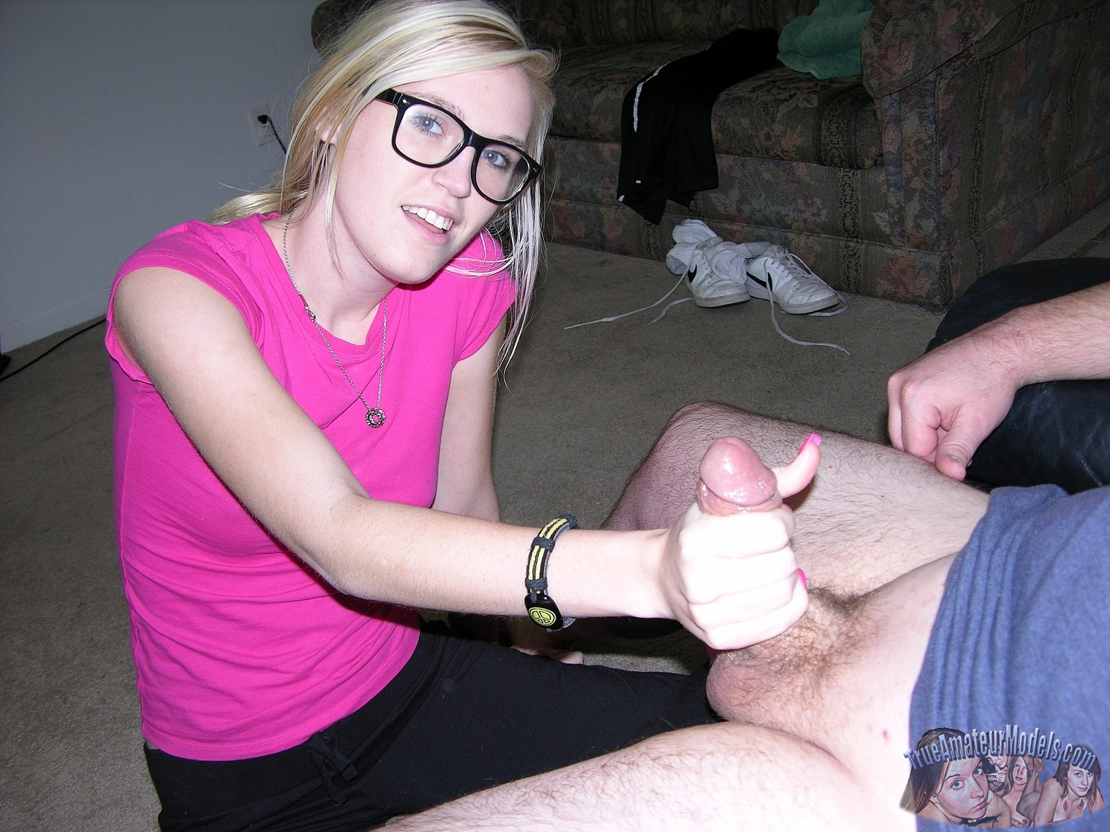 Amateur Blonde Glasses Anal