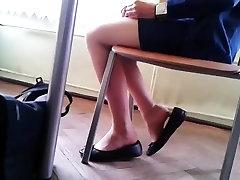 Candid Stunning Teen Shoeplay Feet in Nylons pt 4