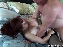 Mature milf loves a mouthful of cum after a good fuck