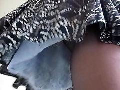 Lacy slip under skirt