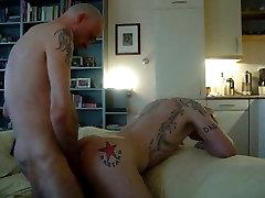 Tattood pierced skinheads bareback fuck