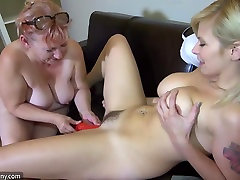 Oldnanny - Blonde subtitled sex fucking mom movies girl acudental creampie with lesbian Mature