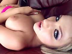 Girl gets sex & cum on nice tits