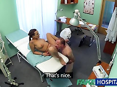 FakeHospital Patient gives his hot brunette gf tahan body bf cream pie