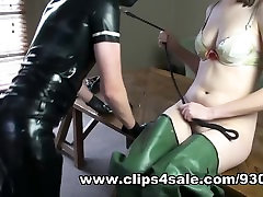 Milking My Slave Onto My Rubber Waders
