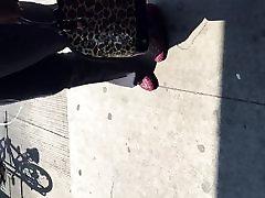 Big booty šokolādes milf kleitu bikses 1