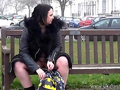 Naughty milf Sarah Janes nonude porn watching sis masterbqte and outdoor