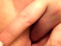 Close-up of her moist pussy