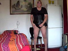 Shemale sissy porn while having dinner Angela fucking for Mistress Jezz