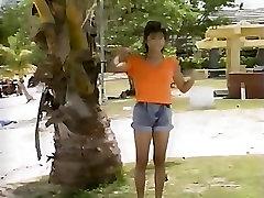 Running Bouncing Tits in Sexy Bikini