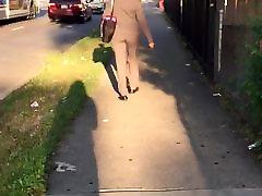 Jauku slim laupījums redbone MILF pelēkā krāsā kleitu, bikses vpl 1