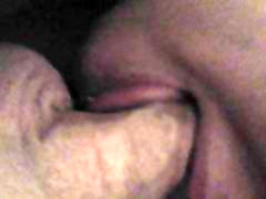 My thats wrong dady wife tongue teasing my cock pt.2
