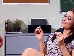 Sex in office then cum on feet