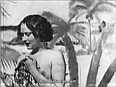 Beautiful Girl gets Fucked at the Beach 1930s Vintage