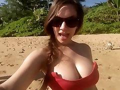 Jamie Lynn Evers on the beach. sanusha xsex vedeo tits
