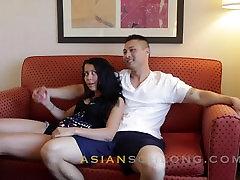 Asian Guy Fucks Creampies White Girl-Jeremy Long and Alaina